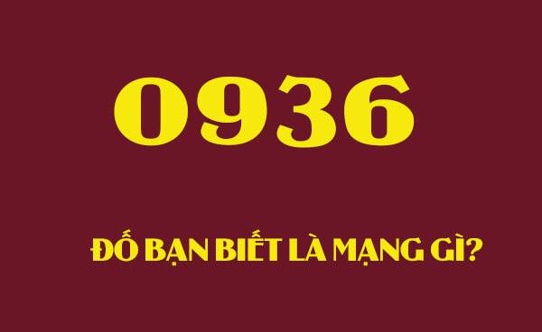 Đầu số 0936 của nhà mạng Mobifone